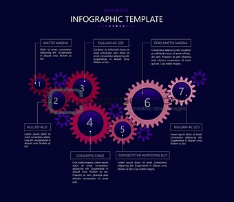 Infographic template with gears 2