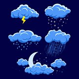 illustration of different weather