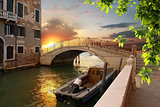 Old bridge in Venice