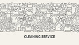 Cleaning Service Banner Concept