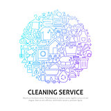 Cleaning Service Circle Concept