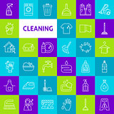 Vector Cleaning Line Icons