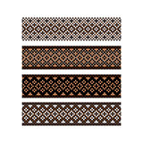 Beaded border design pattern brown color stripes.