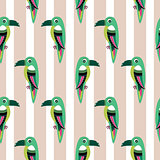 Parakeet parrot pattern seamless bird vector.