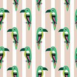 Parakeet parrot pattern seamless bird vector.