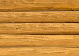 Wooden log wall.