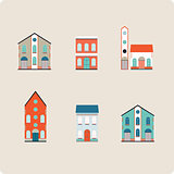 House set. Colorful home icon collection