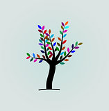Tree with colourful leaf's  vector and illustrations