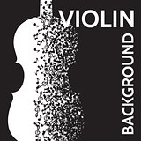 vector abstract background with violin and notes