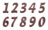 dark chocolate digits set
