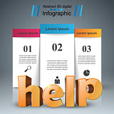Help 3d business infographics.