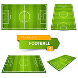 Football, soccer court. Four items.
