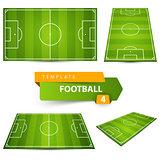 Football, soccer court. Four items.
