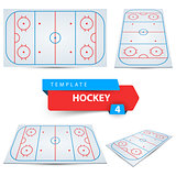 Hockey court. Four sport template.