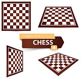 Chess template. Four items game board.