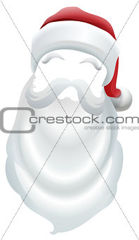 Santa Claus red hat and white beard