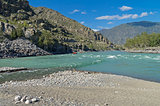 Katun River in the middle reaches. Altai,  Russia.