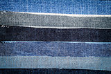 Abstract different jeans stripes texture background