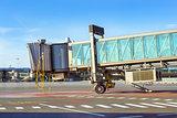 Terminal gates on airport runway, Riga, Latvia