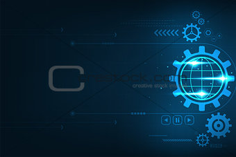 Vector background representing the technology that drives the world.