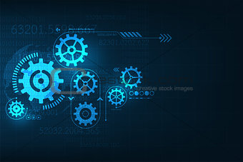 Vector abstract background technology gear concept.