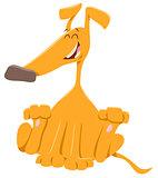 happy dog or puppy cartoon character