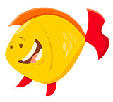 cute cartoon fish animal character