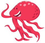 cute cartoon octopus animal character