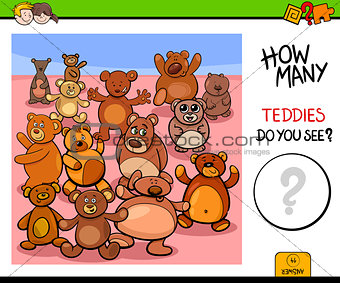 counting teddy bears educational game