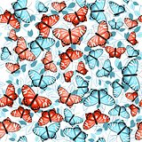 pattern with butterflies and leaves 1