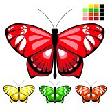 vector butterfly set 10