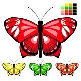 vector butterfly set 10