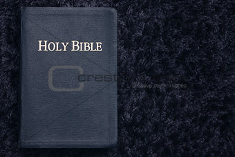 Holy Bible on Dark Texture
