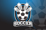 Soccer ball Logo Design for Esports, Sport Team