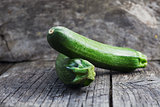 Zucchini on wood