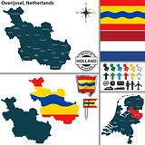 Map of Overijssel, Netherlands