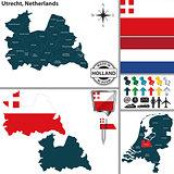 Map of Utrecht, Netherlands