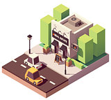 Vector isometric real estate agency office