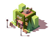 Vector isometric craft beer bar