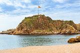 Rock Sa Palomera, beach resort Blanes, Spain