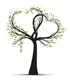 Tree with branches in heart shape