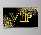 Golden VIP party premium card