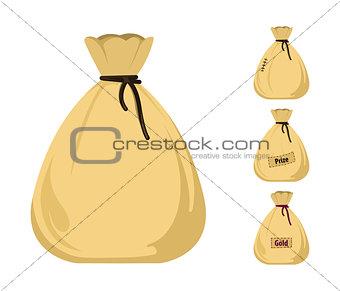 Money bag vector icons