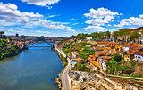 Porto, Portugal. View at river Douro