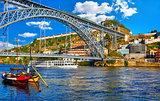 Porto, Portugal. View at Ponte de Dom