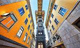 Santa Justa Lift in Lisbon. Famous landmark