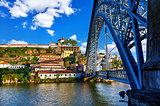 Porto, Portugal. Ponte de Dom Luis bridge