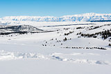 Overlooking Mammoth Lakes, California, January 2017, a record snow-fall year