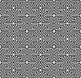 Seamless geometric pattern. 3D illusion.
