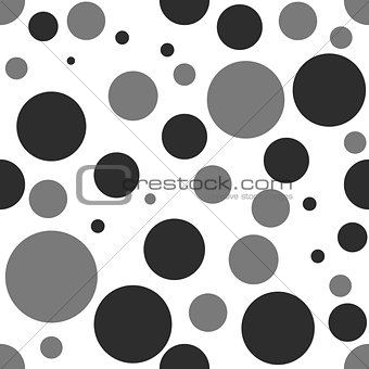 Vector gray and black dot geometry seamless pattern. color abstract geometric background . creative art deco. hipster fashion print